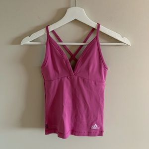 Adidas Strappy Pink Tight Activewear Tank Top XS